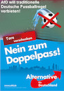 Cartoon: wahlkampf (small) by ab tagged wahl,kampf,plakat,fussball,regel,verbot