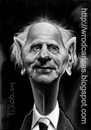 Cartoon: Karl Popper (small) by WROD tagged philopher,caricature