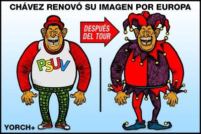 Cartoon: Chavez en Europa (medium) by trazosdeyorch tagged chavez