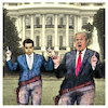 Cartoon: Straight Shooters (small) by Night Owl tagged anthony,scaramucci,donald,trump,us,usa,präsident,kommunikationsdirektor,communications,director,kommunikationschef,weißes,haus,white,house,entlassung,removal,gefeuert,fired,the,mooch