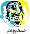 Cartoon: SCHIZOPHRENIC moment (small) by andres fv tagged schizophrenic