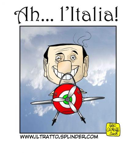 Cartoon: Alitalia (medium) by Giulio Laurenzi tagged berlusconi