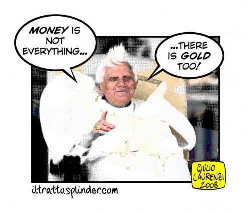 Cartoon: Money (medium) by Giulio Laurenzi tagged religion