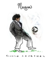 Cartoon: Diego Armando Maradona (small) by Giulio Laurenzi tagged soccer,maradona,2010