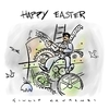 Cartoon: Happy Easter (small) by Giulio Laurenzi tagged easter,2010