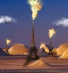 Cartoon: Libyan Landscape (small) by Giulio Laurenzi tagged oil,libya,france,nato,war