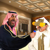 Cartoon: Body painting (small) by Bart van Leeuwen tagged mohammed,bin,salman,saudi,arabia,khashoggi