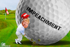 Cartoon: Impeachment Trump golf (small) by Bart van Leeuwen tagged impeachment,trump,golf,impeach,ukraine,whistleblower
