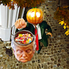 Cartoon: Sleepy Hollow (small) by Bart van Leeuwen tagged trump,halloween,pumpkin,sleepy,hollow,candy
