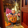 Cartoon: Trump or Treat (small) by Bart van Leeuwen tagged halloween,trump,trick,or,treat,ghost,kkk,saudi,arabia