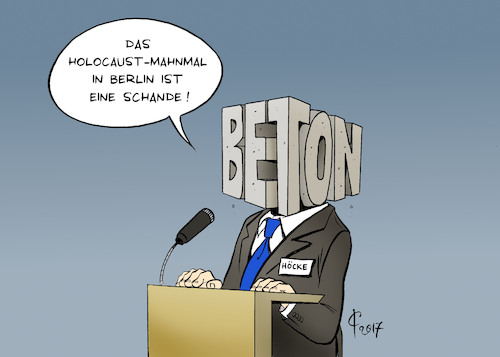 Cartoon: Betonkopf (medium) by Paolo Calleri tagged deutschland,politiker,parteien,afd,alternative,fuer,bjoern,hoecke,dresden,rede,holocaust,mahnmal,berlin,schande,rechtsextrem,rechtspopulismus,karikatur,cartoon,paolo,calleri,deutschland,politiker,parteien,afd,alternative,fuer,bjoern,hoecke,dresden,rede,holocaust,mahnmal,berlin,schande,rechtsextrem,rechtspopulismus,karikatur,cartoon,paolo,calleri
