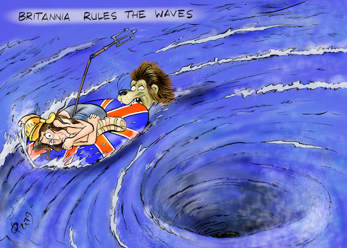 Cartoon: Britannia (medium) by Paolo Calleri tagged eu,uk,gb,grossbritannien,london,union,europa,britannia,abstimmungen,unterhaus,parlament,konservative,remainers,brexiteers,austritt,chaos,karikatur,cartoon,paolo,calleri,eu,uk,gb,grossbritannien,london,union,europa,britannia,abstimmungen,unterhaus,parlament,konservative,remainers,brexiteers,austritt,chaos,karikatur,cartoon,paolo,calleri