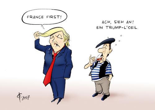 Cartoon: Marine Le Trump (medium) by Paolo Calleri tagged frankreich,wahlen,praesidentschaft,stichwahl,marin,le,pen,emmanuel,macron,front,national,rechtspopulisten,wirtschaft,sicherheit,einwanderung,europa,euro,terrorismus,populismus,beschimpfungen,fake,news,karikatur,cartoon,paolo,calleri,frankreich,wahlen,praesidentschaft,stichwahl,marin,le,pen,emmanuel,macron,front,national,rechtspopulisten,wirtschaft,sicherheit,einwanderung,europa,euro,terrorismus,populismus,beschimpfungen,fake,news,karikatur,cartoon,paolo,calleri