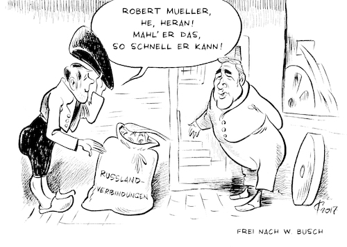 Cartoon: Sonderermittlung (medium) by Paolo Calleri tagged usa,praesident,donald,trump,sonderermittler,ermittlungen,fbi,robert,mueller,russland,kontakte,wahlkampf,karikatur,cartoon,paolo,calleri,usa,praesident,donald,trump,sonderermittler,ermittlungen,fbi,robert,mueller,russland,kontakte,wahlkampf,karikatur,cartoon,paolo,calleri