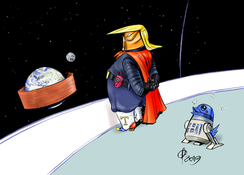 Cartoon: Star Walls (medium) by Paolo Calleri tagged usa,praesident,donald,trump,dekret,militaer,weltraum,weltall,space,force,armee,streitkraft,erde,schaffung,streitkraefte,grenze,einwanderung,immigration,mexiko,mauer,mauerbau,mauerstreit,finanzierung,wirtschaft,wahlversprechen,notstand,demokraten,republikaner,karikatur,cartoon,paolo,calleri,usa,praesident,donald,trump,dekret,militaer,weltraum,weltall,space,force,armee,streitkraft,erde,schaffung,streitkraefte,grenze,einwanderung,immigration,mexiko,mauer,mauerbau,mauerstreit,finanzierung,wirtschaft,wahlversprechen,notstand,demokraten,republikaner,karikatur,cartoon,paolo,calleri