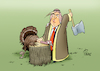 Cartoon: HAPPY THANKSGIVING (small) by Paolo Calleri tagged us,usa,tuerkei,botschaft,saudi,arabien,mord,journalist,fall,khashoggi,partner,partnerschaft,wirtschaft,handel,waren,pressefreiheit,jouranlismus,thanksgiving,feiertag,truthahn,karikatur,cartoon,paolo,calleri