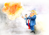 Cartoon: Hate spray (small) by Paolo Calleri tagged usa,waffen,gewalt,massaker,dayton,tote,hass,praesident,donald,trump,twitter,tweets,hassreden,hate,speech,diskussion,rassismus,waffenlobby,nra,waffengesetze,rhetorik,äußerungen,el,paso,karikatur,cartoon,paolo,calleri