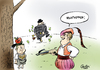 Cartoon: Nolympia (small) by Paolo Calleri tagged deutschland,bayer,münchen,garmisch,partenkirchen,traunstein,berchtesgaden,sport,olympia,winterspiele,2022,bewerbung,ioc,bürgerentscheid,olympiabefürworter,olympiagegner,nolympia,profitgier,intransparenz,karikatur,paolo,calleri