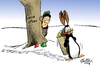 Cartoon: Ostern (small) by Paolo Calleri tagged ostern,2013,christen,religion,fest,osterhase,ostereier,suche,pinguin,wetter,winter,kaelte,schnee,maerz,klima,tradition,karikatur,paolo,calleri