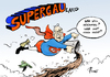Cartoon: Supergau-land (small) by Paolo Calleri tagged deutschland,parteien,afd,alternative,fuer,vize,alexander,gauland,aufmerksamkeit,beleidigungen,nationalmannschaft,boateng,bundeskanzlerin,angela,merkel,kanzlerin,dikatorin,rechtspopulismus,karikatur,cartoon,paolo,calleri