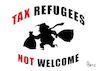 Cartoon: Tax Refugee (small) by Paolo Calleri tagged usa,praesident,donald,trump,zeitung,presse,new,york,times,steuern,steuerhinterziehung,karikatur,cartoon