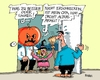 Cartoon: Altersarmut (small) by RABE tagged rente,rentner,armut,altersarmut,nahles,spd,rentenbeitrag,sozialministerin,rabe,ralf,böhme,cartoon,karikatur,pressezeichnung,farbcartoon,tagescartoon,halloween,grusel,hexe,kürbis,maske