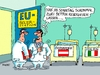 Cartoon: Isolierstation (small) by RABE tagged isolierstation,wahlen,verfassungsreferendum,italien,rom,wien,österreich,bellen,hofer,renzi,rabe,ralf,böhme,cartoon,karikatur,pressezeichnung,farbcartoon,tagescartoon,ärzte,isolation,eu,brüssel,wahlsonntag