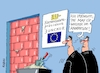 Cartoon: Keine Chance (small) by RABE tagged brexit,eu,insel,may,britten,austritt,rabe,ralf,böhme,cartoon,karikatur,pressezeichnung,farbcartoon,tagescartoon,bauhaus,baukasten,bauklötzer,plan,referendum,februar,juncker,kommissionspräsident,brüssel,mauer,tür,mörtel,kelle,ziegelsteine,verhandlungen,neuverhandlung