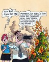 Cartoon: Klicks (small) by RABE tagged weihnachten,weihnachtsbaum,brand,kerzen,wachskerzen,flammen,feuer,rauch,feuerwehr,tanne,nordmanntanne,mann,frau,rabe,ralf,böhme,cartoon,karikatur,pressezeichnung,farbcartoon,handy,smartphone,fotos,fotografie,internet,facebook,twitter,youtube,follower,user