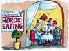 Cartoon: Nordiceating (small) by RABE tagged gastronomie,erlebnisgastronomie,gaststätte,gasthaus,gasthof,restaurant,nordic,walking,eating,kellner,bedienung,mann,frau,ehepaar,trinkgeld,speisekarte,essen,trinken,teller,besteck,messer,gabel,tischtuch,ober,oberkellner,wein,kerze,dinner,candlelightdinner