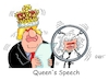 Cartoon: Queens Speech (small) by RABE tagged brexit,no,deal,johnson,boris,downing,street,austritt,eu,brüssel,london,rabe,ralf,böhme,cartoon,karikatur,pressezeichnung,farbcartoon,tagescartoon,may,juncker,luxemburg,queen,elisabeth,queens,speech,parlament