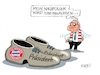 Cartoon: Uli Hoeneß (small) by RABE tagged uli,hoenß,rummenigge,kovac,trainer,niederlage,rabe,ralf,böhme,cartoon,karikatur,pressezeichnung,farbcartoon,tagescartoon,fc,bayern,münchen,stadion,bundesliega,bundesligatabelle,abschied,schuhe,präsident,ruhestand,manager