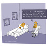Cartoon: Erkenntnis (small) by Schilling  Blum tagged psychiater,depression,couch,patient
