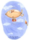Cartoon: Die Hindenwurst (small) by mele tagged hindenburg,wurst,zeppelin