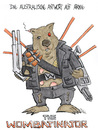 Cartoon: Wombatinator (small) by mele tagged schwarzenegger,wombat