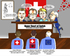 Cartoon: The Swiss racists (small) by MDS tagged swiss,racists,eu,citizens,junker,switzerland