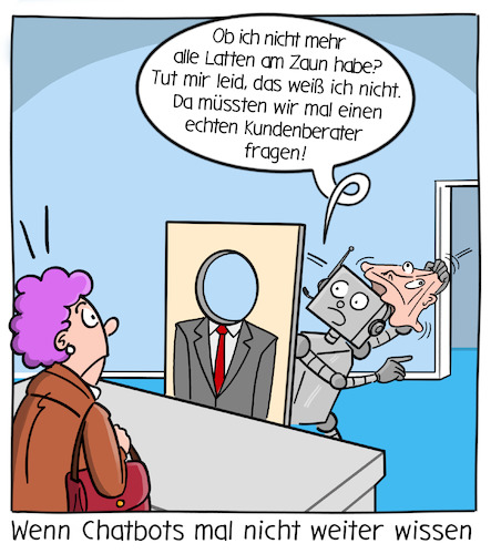 Cartoon: Chatbot (medium) by CloudScience tagged chatbot,chatbots,ki,conversationalai,kundenservice,kundenberatung,beratung,berater,service,marketing,digitalisierung,digital,tech,technik,technologie,roboter,kunde,künstliche,intelligenz,call,center,automatisierung,dialog,cx,customerexperiencekundendialog,assistenzsystem,chatbot,chatbots,ki,conversationalai,kundenservice,kundenberatung,beratung,berater,service,marketing,digitalisierung,digital,tech,technik,technologie,roboter,kunde,künstliche,intelligenz,call,center,automatisierung,dialog,cx,customerexperiencekundendialog,assistenzsystem