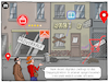 Cartoon: Aussterben der Innenstädte (small) by CloudScience tagged digitaler,zwilling,einzelhandel,staedtesterben,innenstadt,geisterstadt,digitalisierung,digital,tech,technologie,shopping,handel,stationaer,stationaerer,city,stadt,vr,virtual,reality,virtuelle,realitaet,ar,augmented,kunden,technik,wirtschaft,business,zukunft,trend,gesellschaft,disruption,innovation,wandel,smart,transformation,kritik,infrastruktur