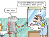 Cartoon: Blindenroboter Baxer (small) by CloudScience tagged blinde,roboter,künstliche,intelligenz,unterstützung,it