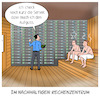 Cartoon: Im nachhaltigen Rechenzentrum (small) by CloudScience tagged rechenzentrum,rechenzentren,data,center,server,abwärme,wärme,energie,energieeffizienz,nachhaltigkeit,umwelt,daten,sauna,tech,technik,technologie,digital,digitalisierung,strom,vernetzung,it,racks,klima,klimaneutral,co2
