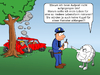 Cartoon: intelligenter Airbag (small) by CloudScience tagged entwicklung,autosicherheit,airbag