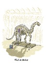 Cartoon: Fluch der Akribik (small) by Bettina Bexte tagged film,fluch,der,karibik,akribie,hausarbeit,putzfrau,museum,dinosaurier
