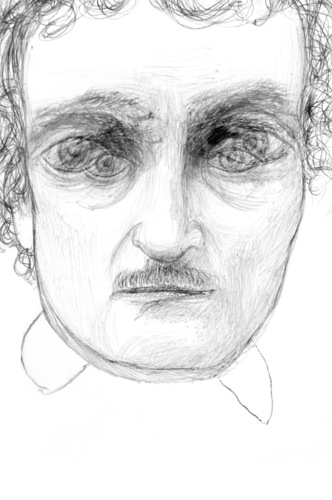 Cartoon: poe (medium) by sasch tagged krimi,shortstory,horror,laudanum,pym,pendel