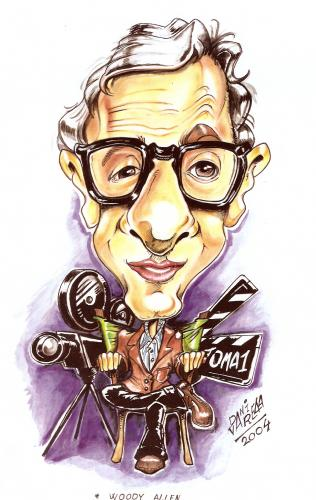 Cartoon: woody allen (medium) by DANIEL EDUARDO VARELA tagged completo