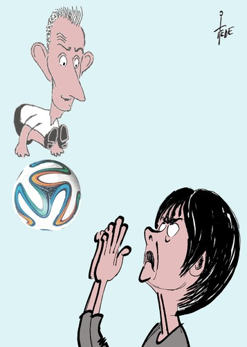 Cartoon: Miro! (medium) by tiede tagged miro,klose,em,fussball,europameisterschaft,frankreich,jogi,löw,uefa,tiede,cartoon,karikatur,miro,klose,em,fussball,europameisterschaft,frankreich,jogi,löw,uefa,tiede,cartoon,karikatur