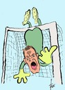 Cartoon: Manuel Neuer (small) by tiede tagged brasilien,2014,manuel,neuer,torwart,nationalmannschaft