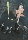 Cartoon: Salvador Dali (small) by tiede tagged dali,salvador,surrealismus,cartoon,tiedemann,gala,freud,amanda,lear,maler,bildhauer,tiede