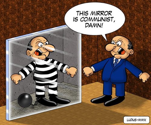 Cartoon: Berlusconi in the mirror (medium) by Ludus tagged berlusconi