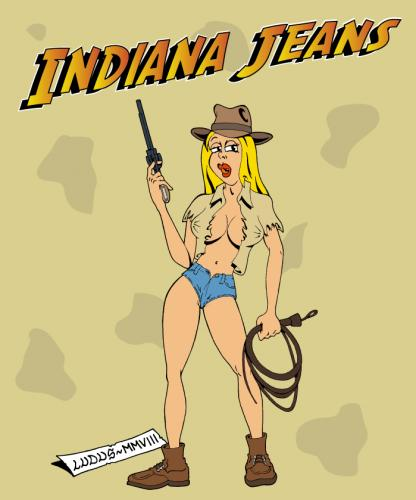 Cartoon: Indiana Jeans (medium) by Ludus tagged indiana,jones
