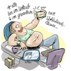 Cartoon: influencer (small) by REIBEL tagged influencer,selfie,post,tweet,follower,instagram,foto,bauch,fett